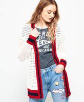 Superdry Varsity Spirit Crochet Cardigan