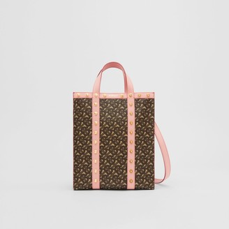 Burberry Small Monogram Print E-canvas Portrait Tote Bag