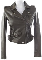 IRO Green Leather Jacket for Women