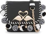Sophia Webster Claude Flamingo leather cross-body bag