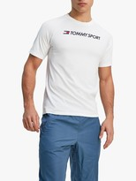 Tommy Hilfiger Tommy Sport Logo Mesh Training Top, White