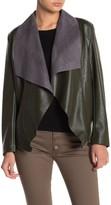 Tahari Faux Leather Moto Jacket