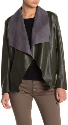 Tahari Faux Leather Moto Jacket