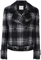 Ungaro plaid double-breasted jacket