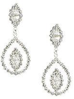 Cezanne Navette Rhinestone Statement Earrings