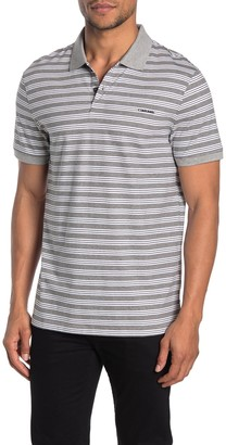 Calvin Klein Short Sleeve Stripe Print Polo