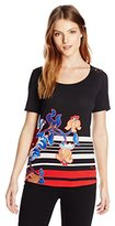 Desigual Women's Knitted T-Shirt Short Sleeve 43