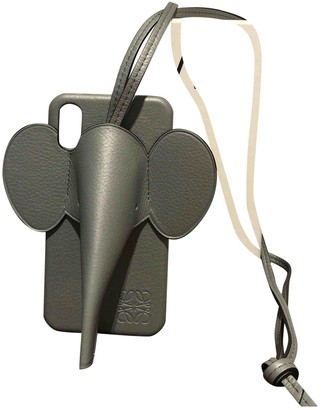 Loewe Grey Leather Phone charms