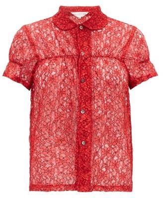COMME DES GARÇONS GIRL Short-sleeved Floral-lace Shirt - Red