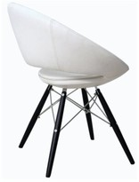 Modern Chairs Usa Lunar Side Upholstered Dining Chair Modern Chairs USA Upholstery Color: White