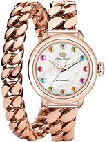 Glam Rock Women's Bal Harbour 40mm Rose Gold Plated Bracelet & Case Quartz White Dial Analog Watch GR77052