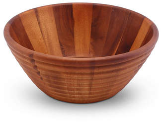 Arthur Court Salad Bowl Acacia Wood Serving Bowl for Fruits or Salads Bee Hive Shape Style Large Wooden Single Bowl