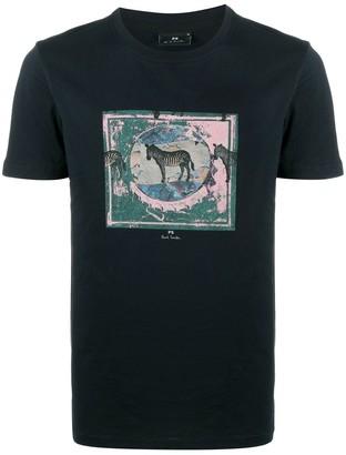 Paul Smith zebra print crewneck T-shirt