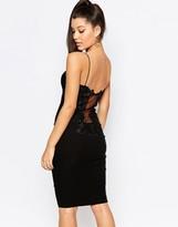 Rare London Lace Back Midi Dress