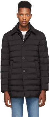 Herno Black Down Limpermeable Coat