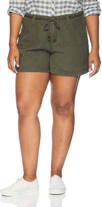 Dollhouse Women's Size Army Green Plus Linen 18