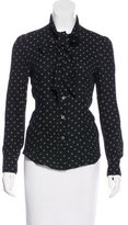 RED Valentino Polka Dot Button-Up Top