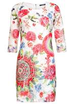 Quiz Muti Coloured Lace Abstract Print Tunic Dress