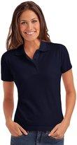 Hanes Elegance Womens Pique Short Sleeve Polo Shirt - L