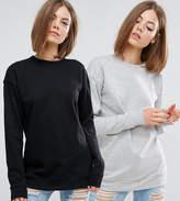 Asos Boyfriend Sweatshirt 2 Pack