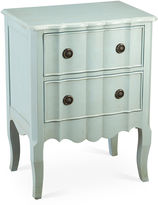 AA Importing Fleur 2-Drawer Nightstand, Light Blue