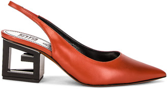 Givenchy Triangle Slingback Pumps in Terracotta | FWRD
