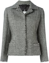 Maison Margiela raw edge blazer - women - Cotton/Acrylic/Polyester/Wool - 40