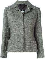Maison Margiela raw edge blazer - women - Cotton/Viscose/Wool/Mohair - 40