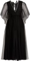 Rochas Ruffle-trimmed open-back tulle dress