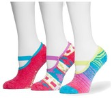Muk Luks Women's Aloe Maryjane's 3 Pair Sock Pack - Pink One Size