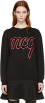 McQ by Alexander McQueen Black Logo Classic Pullover