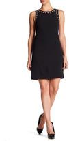 Adrianna Papell Grommet Neckline Shift Dress