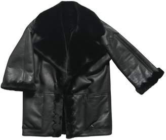 Christian Dior Black Shearling Coat for Women Vintage
