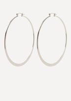 Bebe Flat Hoop Earrings