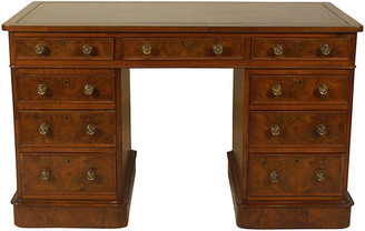 One Kings Lane Vintage 19th-C. English Pedestal Desk - The Barn at 17 Antiques