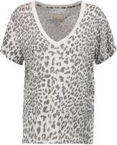 Current/Elliott Leopard-print cotton-jersey T-shirt