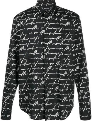 Just Cavalli Signature-Print Slim-Fit Shirt