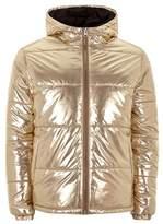 Topman LTD Gold Bomber Jacket