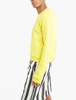 Haider Ackermann Yellow Cropped Cotton Sweatshirt
