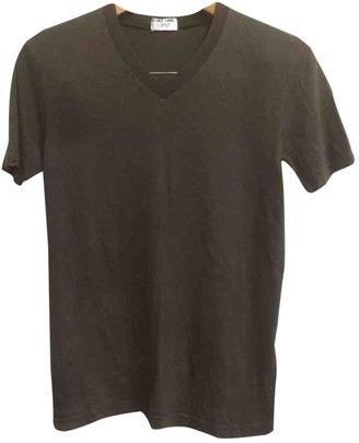 Helmut Lang Brown Cotton T-shirts
