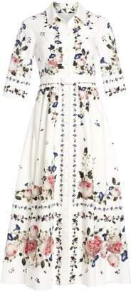 Erdem Kasia Floral Midi Shirtdress