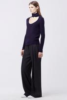 Diane von Furstenberg Gracey Cut-Out Turtleneck Sweater