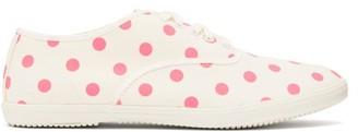 COMME DES GARÇONS GIRL Polka-dot Canvas Trainers - Pink White