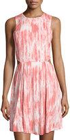 MICHAEL Michael Kors Side-Cutout Tie-Dye Dress, Lily Pink
