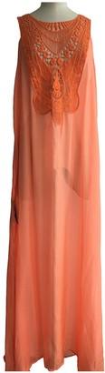Miguelina Orange Silk Dresses