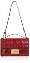 Salvatore Ferragamo Aileen Snake Chevron Shoulder Bag