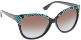 Jessica Simpson Women's J5337 Cateye Animal Print Sunglasses