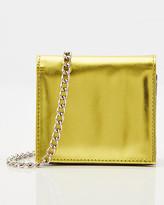 Le Château Metallic Faux Leather Belt Bag