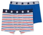 Petit Bateau Set of 2 boys plain/striped boxers