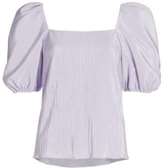 Jonathan Simkhai Ruby Puff-Sleeve Top